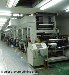 8-color gravure printing machine