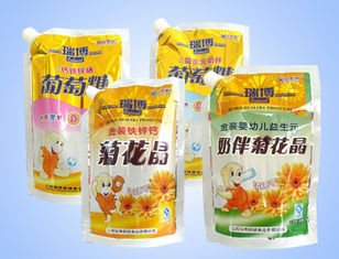 China Plastic Snack / Food Packaging Bags With Hang Hole , Stand Up Pouches For Food supplier