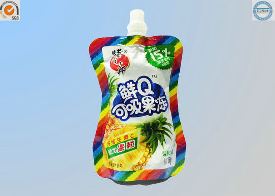 China Small Food Grade Plastic Bags , Stand Up Spout Pouch For Liquid / Particle Product supplier