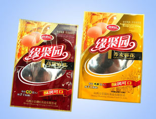 China Custom Printed Plastic Food Packaging Bags With Hang Hole / Clear Window supplier
