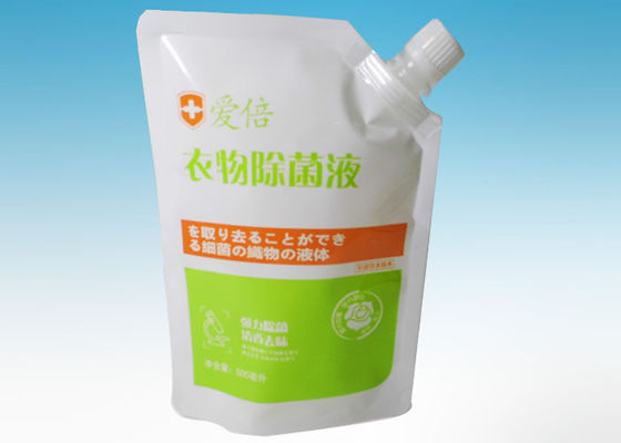 China Environment-friendly Personal Care Stand up Spout Pouch Liquid Plastic Packaging supplier