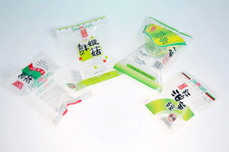 China PET / LLDPE  Resistant Frozen Food Bags Laminated Plastic Food Packaging supplier