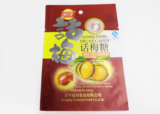 China Resealable Snack Stand Up Ziplock Bags With Aluminium / Flat Plastic supplier