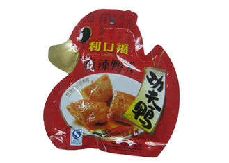 China Custom Laminated Die Cut Snack Food Packaging Bags Stand Up With Reclosable Spout supplier