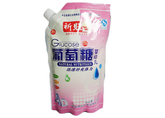 China Self Sealing PET / AL / PE Stand Up Pouch With Spout For Beverage, spout pouch wibottom gusset supplier