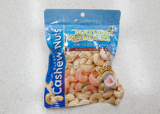 China Laminated Food Grade Stand Up Pouches Three Side Seal / Back Seal For Nuts supplier