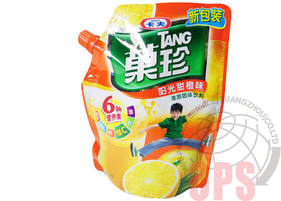 China PET / PE Liquid Spout Bags Plastic Food Package For Juice , top open automatic packing bag supplier