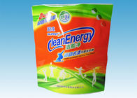 China Custom Printed Stand Up Pouches , washing powder packaging bags With Three Handles factory