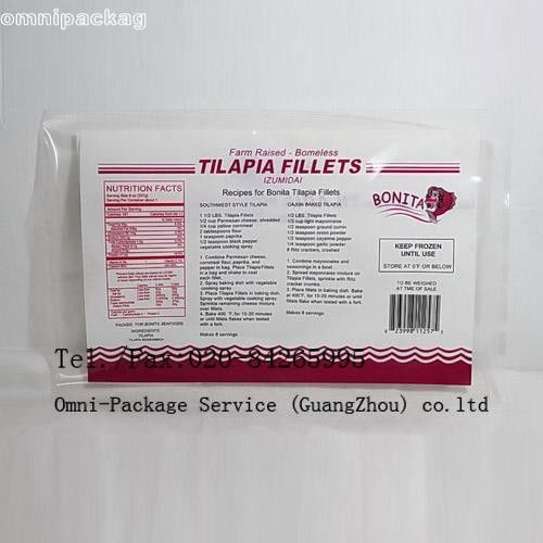 Eco-friendly Laminated Frozen Food Bags Food Grade Heat Sealed For