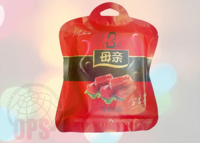 Irregular Shaped Snack Packaging Bags Zipper Pouch Customized PET / AL / PE Material
