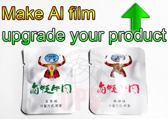 Vacuum Sealed Aluminum Foil Packaging Bags For Meat / Three Side Seal Bag