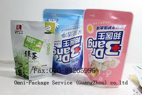 Personal Care Stand Up Pouch Packaging For Jelly / Pet Food and Washing Powder