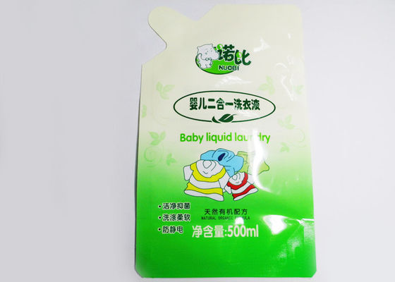 China 500ml Special Shape Detergent Stand Up Pouch / Plastic Bags For Washing Powder factory