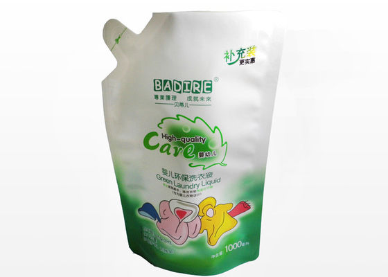 China Liquid Detergent Stand Up Pouch, 1000ml Sealable Laminated Plastic Bags factory