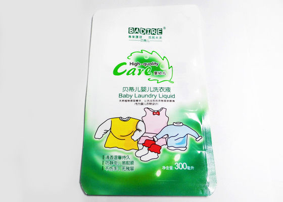 China 300ml Detergent Stand Up Pouch , Plastic Bags For Baby Laundry Liquid factory