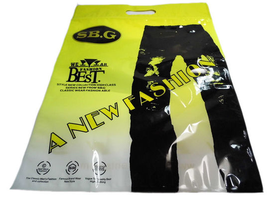 Perforated Transparent Plastic Garment Packaging Bags For Pants , Gravure Printing