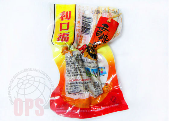 Recycled 3 Side Seal Plastic Food Packaging Bags , Vacuum Food Storage Bag