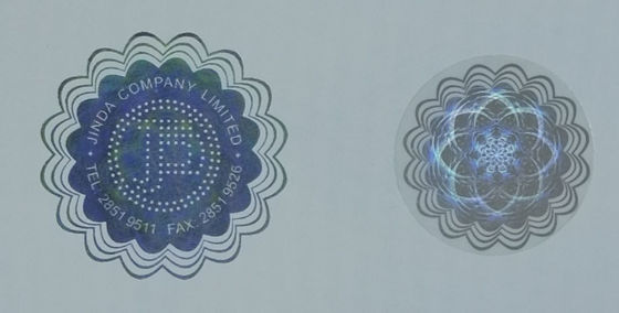 Colorless Fluorescent Hologram Food Label Stickers Hot Stamping Number